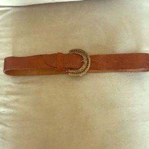 Accessories - Genuine brown leather belt.